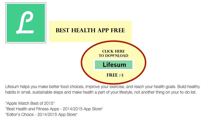 Itunes Best Health App LifeSum FREE
