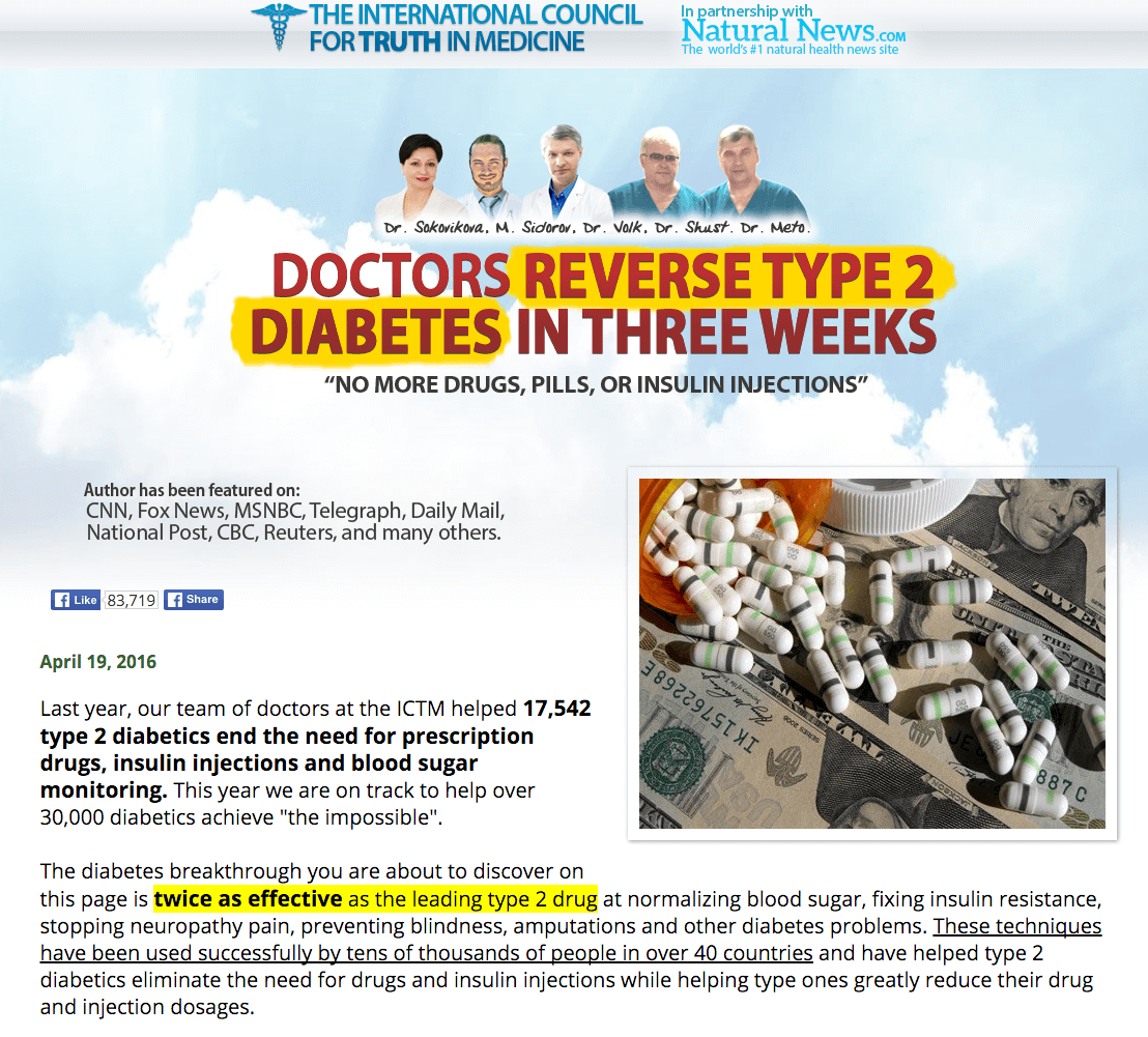 Doctors Reveal How To Reverse  Type 2 Diabetes In Two Weeks