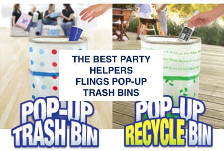 Flings Disposable Trash Bins Are The Best Party Helpers
