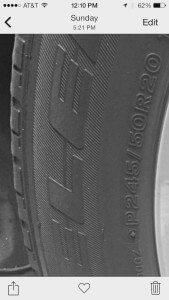 Where To Find Your Tire Model and Size