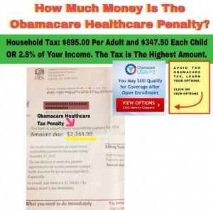 How Much Is The OBAMACARE TAX
