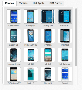 A Sample of Some Phones That Are Compatible with FreedomPop